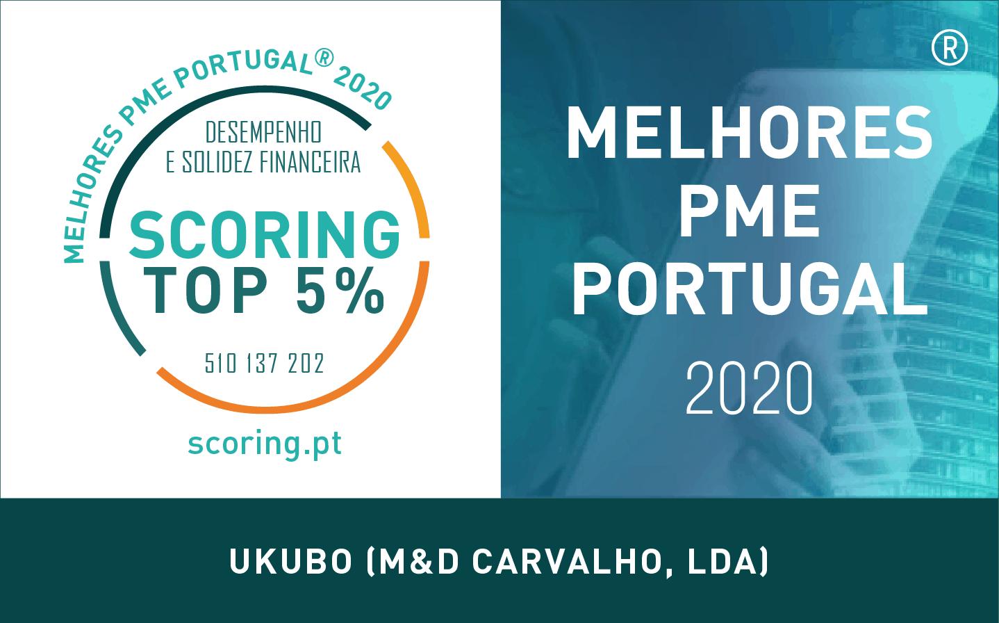 UKUBO – TOP 5% melhores PME de Portugal